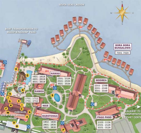 New Polynesian Resort Map - theDIBB