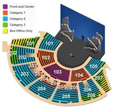 La nouba seating chart