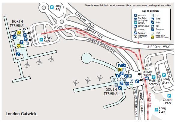 Gatwick South Terminal Long Stay Car Park Map