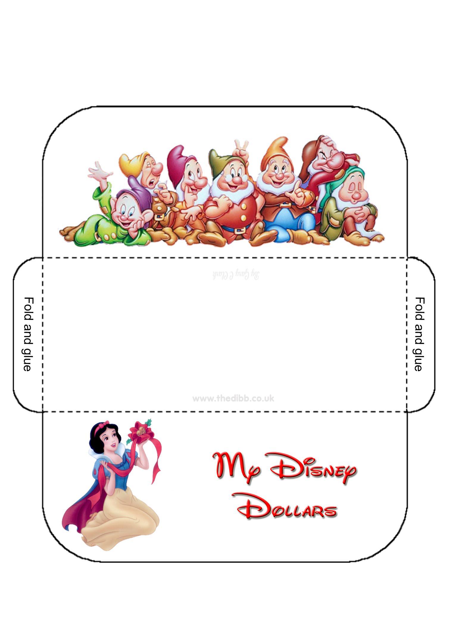 image regarding Disney Printable Envelopes referred to as Disney Greenback Envelopes - theDIBB