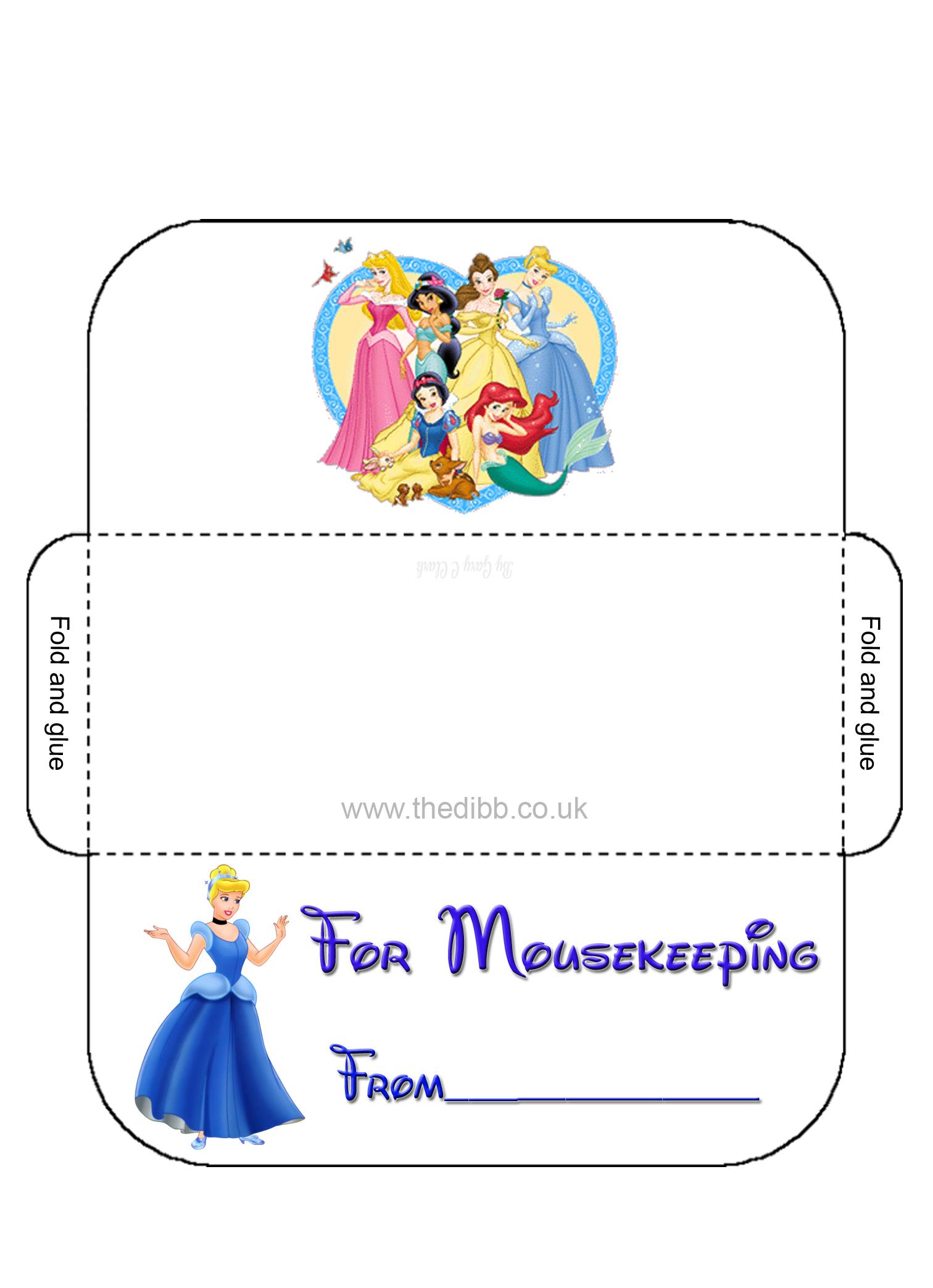 photo about Disney Printable Envelopes known as Mousekeeping Envelopes - theDIBB
