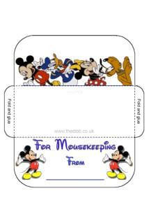 photograph relating to Disney Printable Envelopes identified as Mousekeeping Envelopes - theDIBB