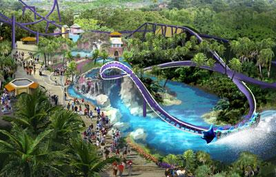 Orlando Seaworld, Tampa Busch Gardens Manta-Artist-1-400