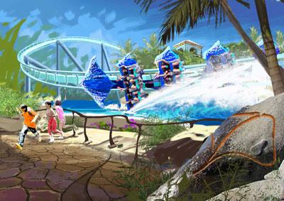 Orlando Seaworld, Tampa Busch Gardens Manta-Artist2-400