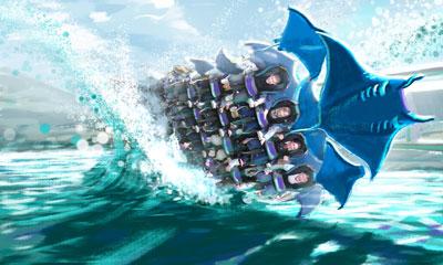 Orlando Seaworld, Tampa Busch Gardens Manta-Artist3-400